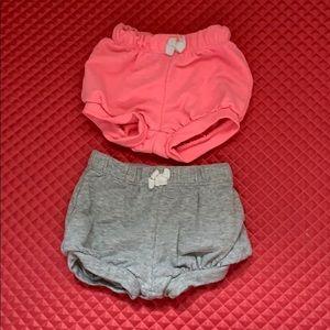 Baby shorts newborn and 3m